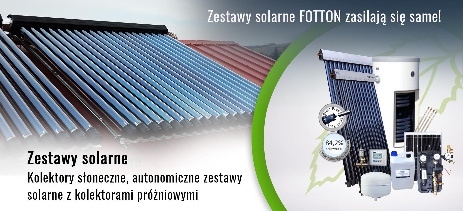 autonomiczne zestawy solarne do CWU